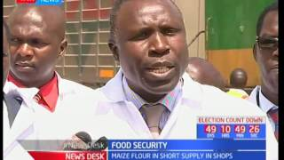 The government receives a cargo of imported maize