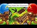 BTD Battles New Skin Showcase! (Sniper Skins) w/ Lockerino