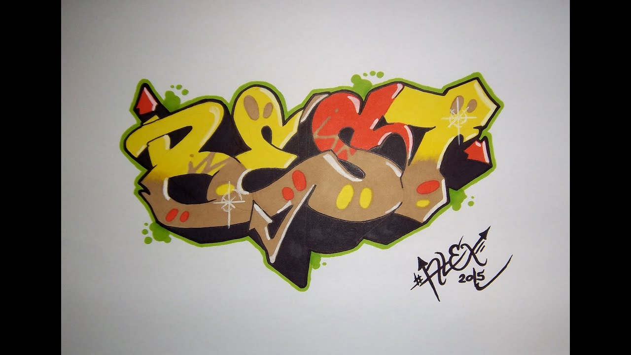 Tuto apprendre le graffiti by alex graff hd youtube - Bombe de graffiti ...
