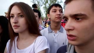 Видеосъемка Парада победы. Выпускники самарской школы, видео клип