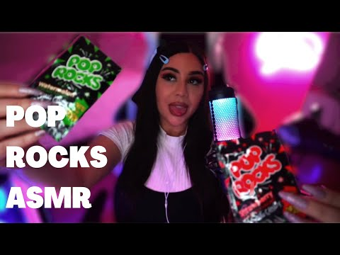 [ASMR]   Pop rocks ASMR - 90's BABY shares candy with you CRUNCHY POPPING MOUTH SOUNDS