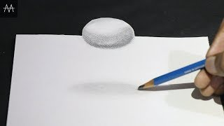 Easy !! How to Draw 3D shape - 3D Trick Art on Paper