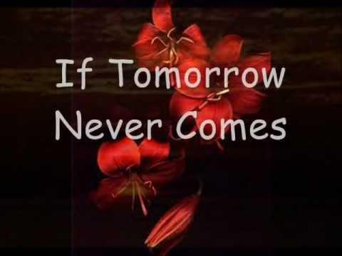 Ronan Keating If Tomorrow Never Comes Lyrics Youtube