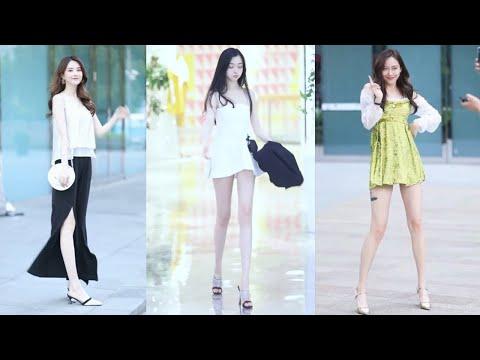 Tik Tok China #2 Pretty Girls Mejores Fashion Walking Style Street Dress Outfit.  抖音時尚網紅街拍合輯。