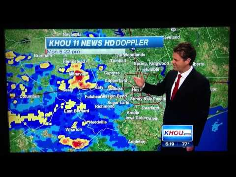 Houston Weather Anchor hiccups on live broadcast