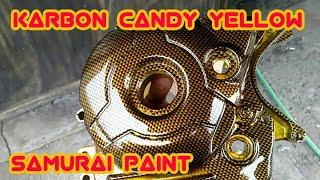 Celup Karbon Candy Yellow Bak Mesin Yamaha Jupiter