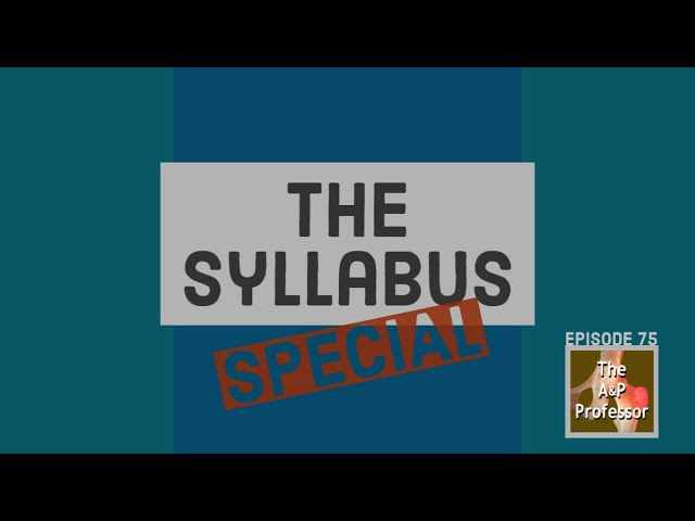The Syllabus Special | TAPP 75