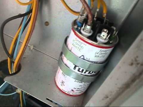 HVAC Service :  Install New Turbo 200 Capacitor