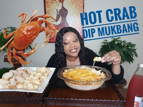 The Very Best Hot Crab Dip Mukbang Homemade 🦀 Dip (eating show)
