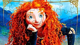 Принцессы Дисней. Собираем пазлы с принцессой Меридой. Disney princesses puzzles Brave