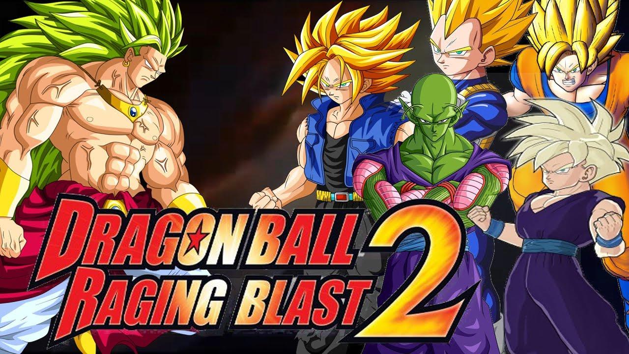 dragonball raging blast 2: ssj3 broly vs ssj goku, ssj vegeta, ssj
