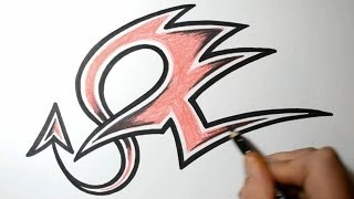 How to Draw Graffiti Letters - Z