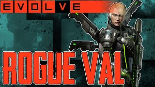 EVOLVE ROGUE VAL GAMEPLAY - DAS GIFT GEWEHR REGELT- Rogue Val Gameplay German Deutsch