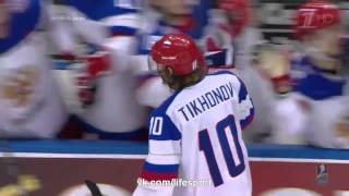 Россия - Финляндия 5-2. Гол Тихонова.