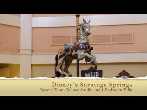 Disney's Saratoga Springs Resort Tour - Deluxe Studio & 1-Bedroom Villa - Sept 2017