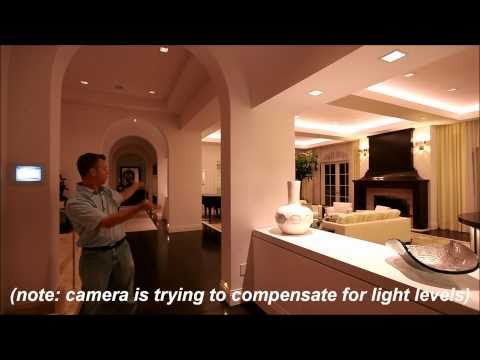 Crestron controlling a Lutron HomeWorks lighting system