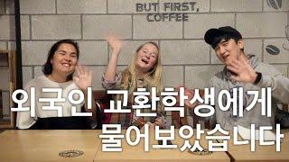 외국인 교환학생들에게 물어봤습니다 // Exchange Students Talk About Korea
