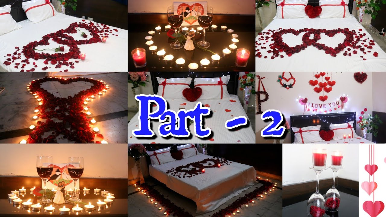 Romantic Room Decorations For Valentines Day 6 Surprise Bedroom Decorating Ideas Room Decor Part2 Youtube