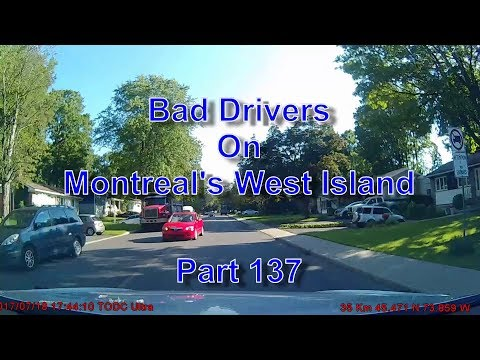 Bad Drivers on Montreal's West Island Part 137