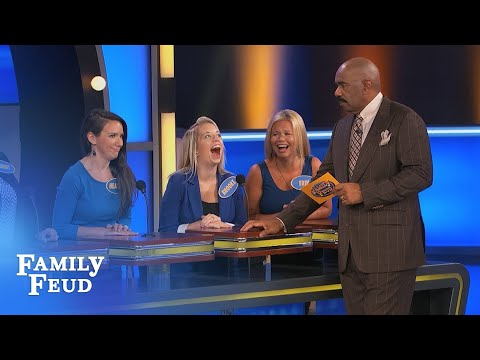 Men, an H word that describes your WIFE? | Family Feud