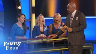 Men, an H word that describes your WIFE? | Family Feud thumbnail