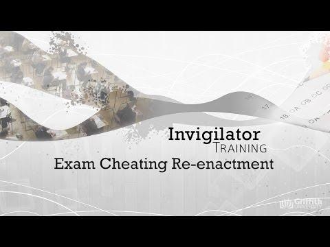 Exam Cheating Re-Enactment