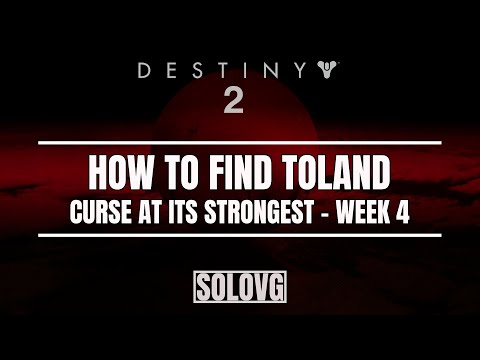 DESTINY 2 - Challenge: The Shattered Bounty | Toland Location When Curse is at its Strongest
