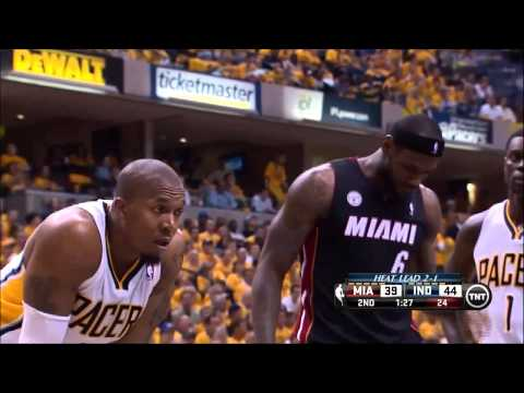 Lance Stephenson messing with LeBron
