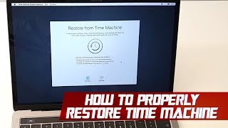 How to Properly Restore from a Time Machine Backup | Mac Tips