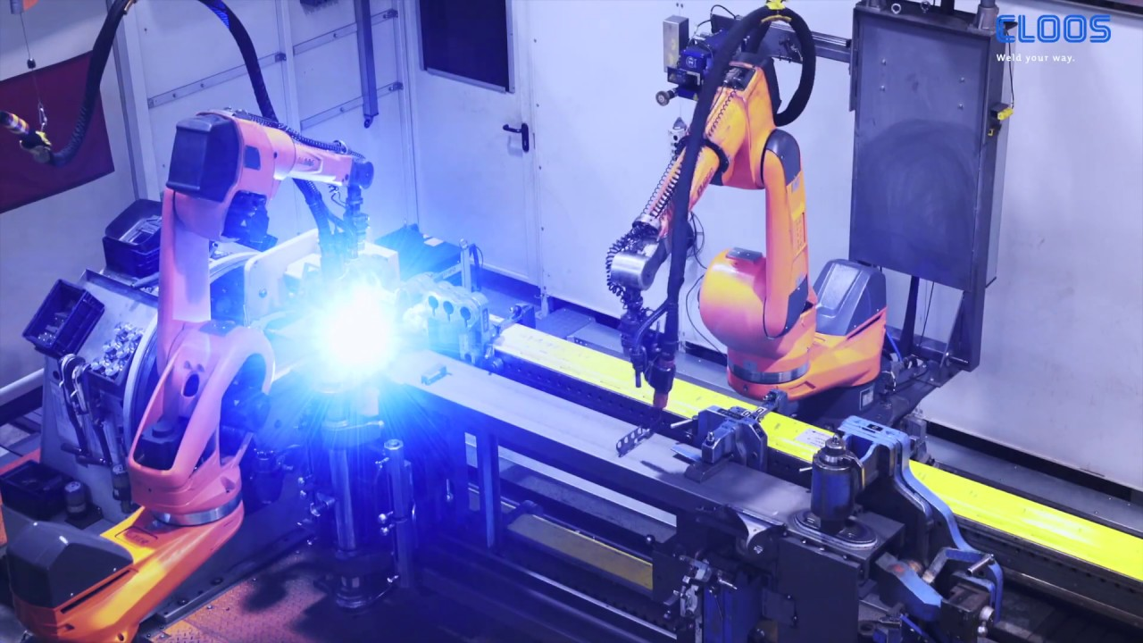 CLOOS - Flexible robot welding system with offline programming at Linde  Material Handling
