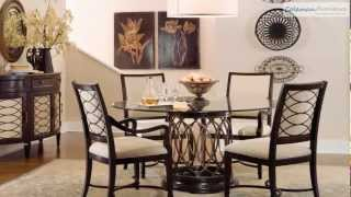Intrigue Round Glass Top Dining Room Collection From Art Furniture