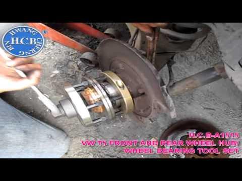 H.C.B-A1515 VW T5 FRONT AND REAR WHEEL HUB/ WHEEL BEARING TOOL SET