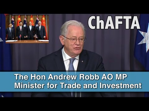 Inside Canberra - Agreement with opposition over ChAFTA