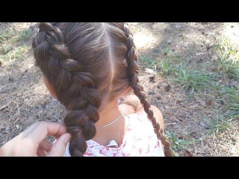 Голландская коса (Французская обратная) + Объемная // Dutch braid + voluminous