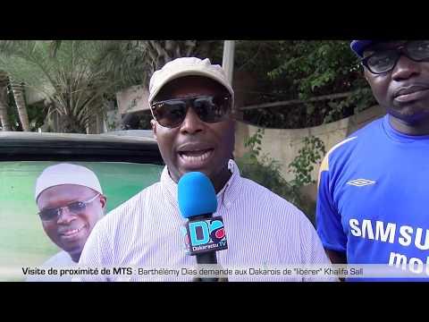 Visite de proximité de MTS : Barthélémy Dias demande aux Dakarois de  libérer  Khalifa sall
