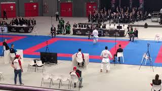 Matia Busato (ITA) Vs Ryo Kiyuna (JPN) WKF World Karate Championships 2018 Male Kata