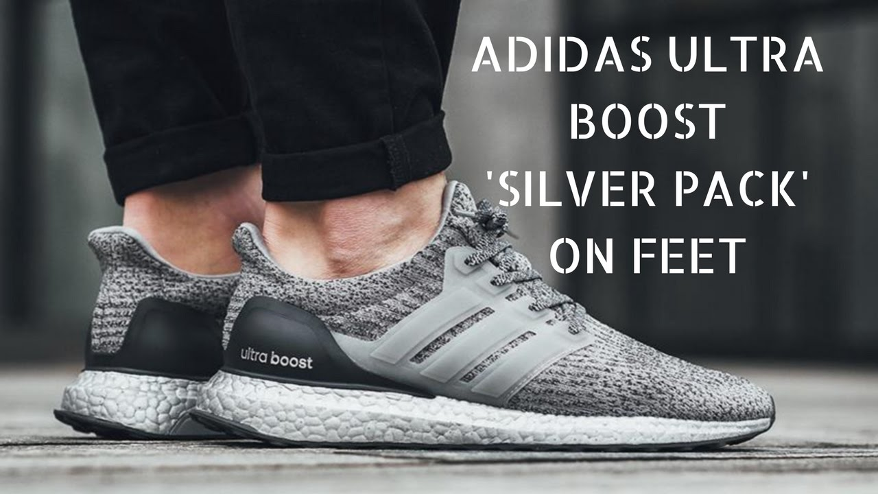 63f9f70028453 Adidas Ultra Boost Silver Pack Grey - Quick ON Feet - YouTube