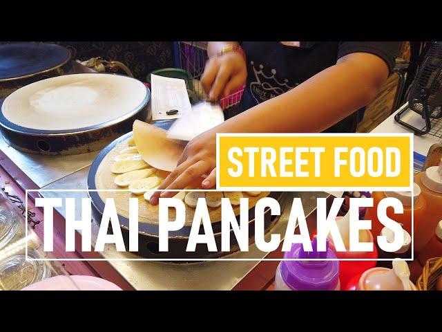 Bangkok street food | TAJSKIE NALEŚNIKI | Bangkok FOOD market