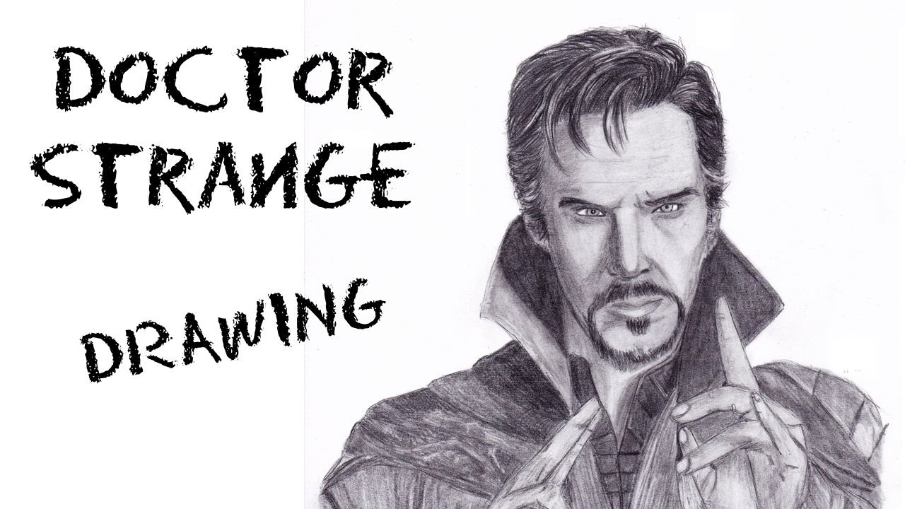 Doctor strange benedict cumberbatch pencil drawing youtube