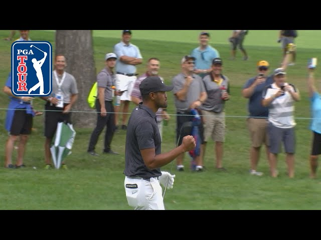 Tony Finau holes out for eagle at BMW Championship 2019