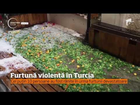 Imagini şocante după ce o furtună violentă a lovit Turcia