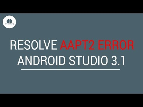 Resolve AAPT2 ERROR Android Studio 3 1 by CLIPCODES