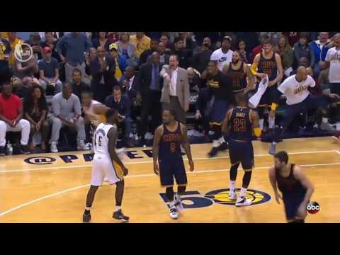 Lebron James Lock Down Defense on Lance Stephenson Cavs vs Pacers NBA Playoffs 4-23-17