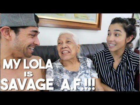 My Filipino Grandma Roasts My Sister (Lola Visits Manila)
