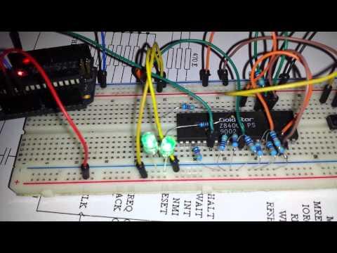 Z80 cpu test @ 2Hz