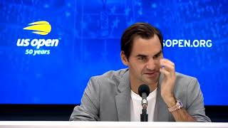 """Federer """"Umpire will never do that again"""" on Kyrgios US Open 2018 Press Conference"""