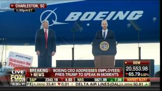 "AWESOME! Boeing Employees Chant ""USA! USA!"" As Trump Is Introduced in South Carolina"