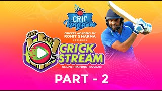 CricKingdom Presents Crick Stream, an online cricket coaching program - Part - 2