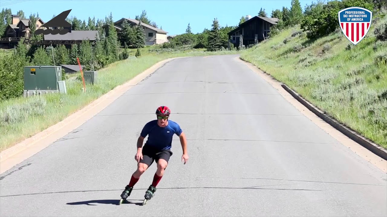 Alpine skiing training on roller skates YouTube