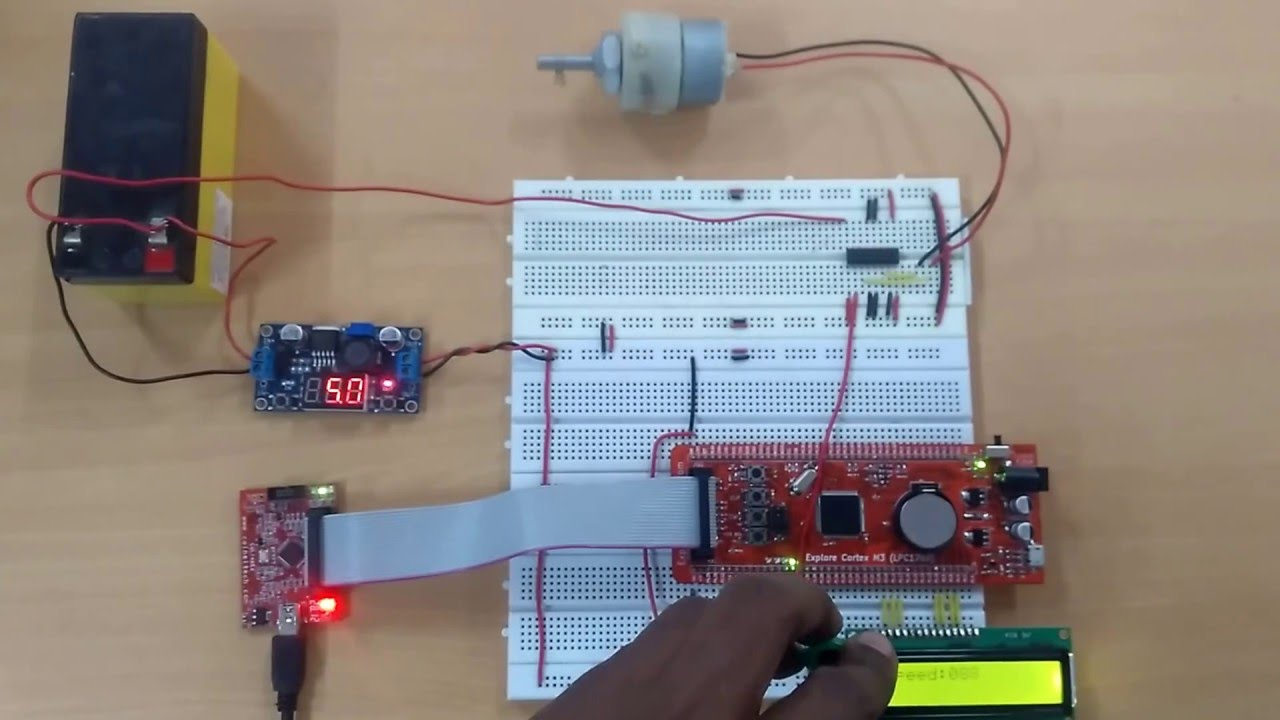 DC Motor Control using PWM of LPC1768- (Part 12/21) | EngineersGarage